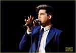 ? Adam Lambert in gorgeous blue suit at Rays of Sunshine Charity Concert at Royal Albert Hall, June 7, 2012  London
